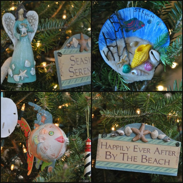 beach ornaments collage