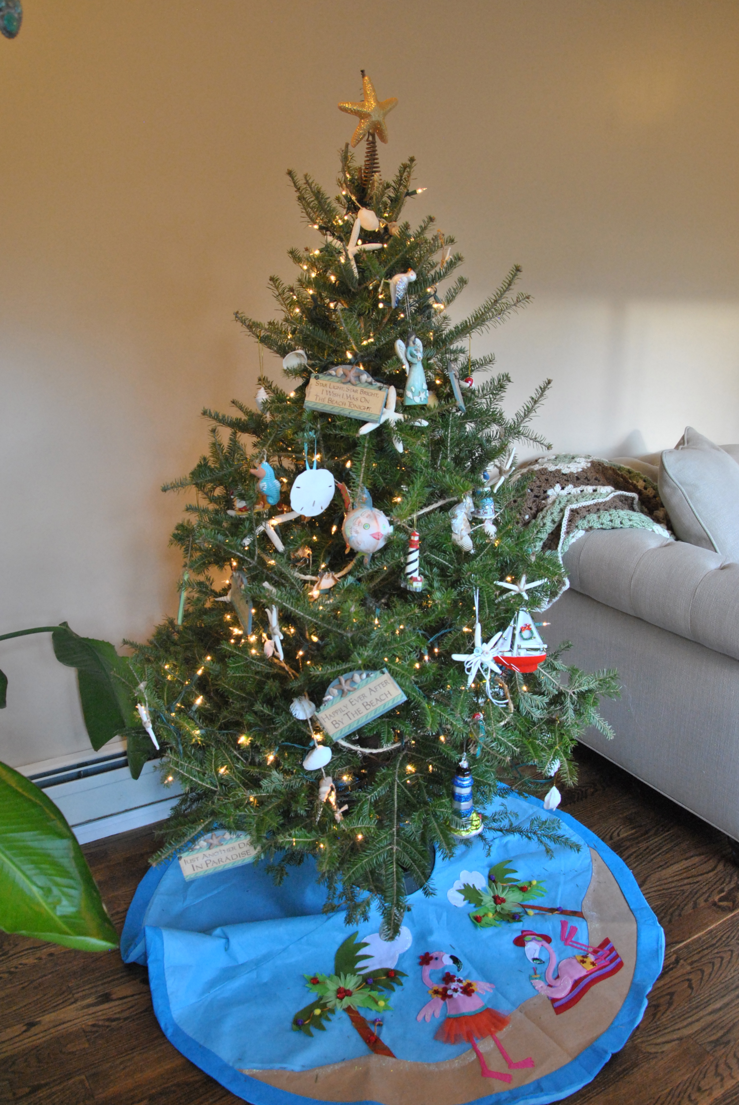 Beach Themed Christmas Tree Ornaments
