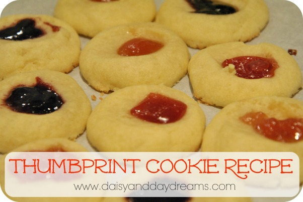 Thumbprint Cookie Recipe | Daisy & Daydreams