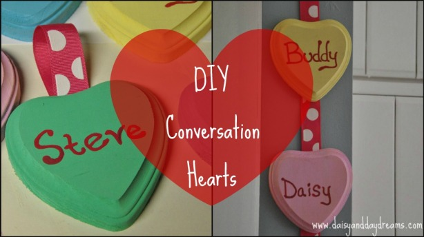 DIY Valentine Decor {Conversation Hearts}