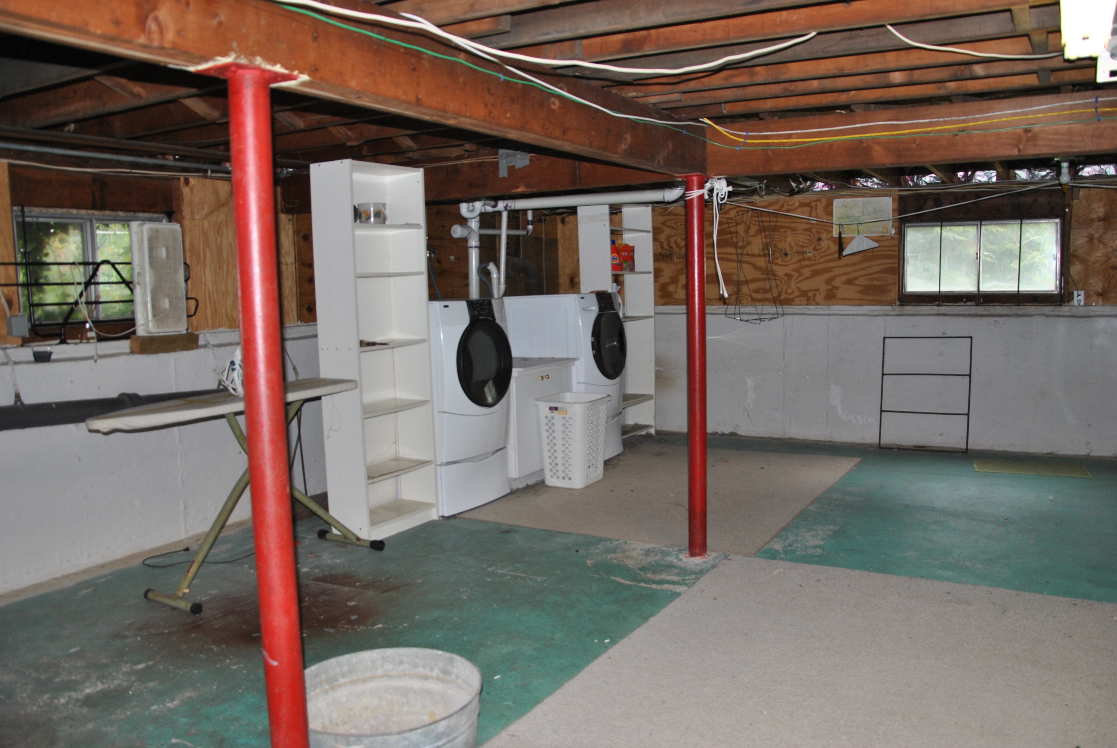Unfinished Basement Laundry Room Ideas Viewing Gallery