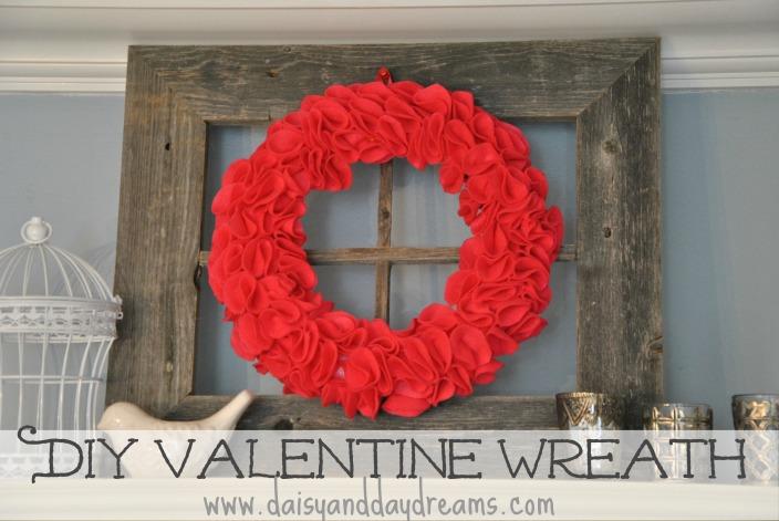 DIY Valentine Felt Rosette Wreath